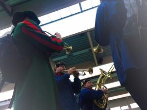 Musik zum Aufstehen dank der Stadtkapelle Furtwangen und unseremm Timo.
