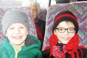 Auf der Busfahrt nach Bad Dürrheim.